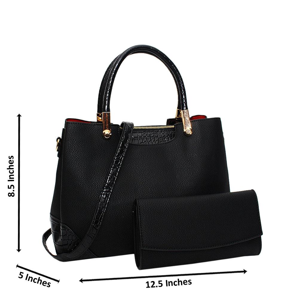 Black-Soraya-Leather-Medium-Tote-Handbag