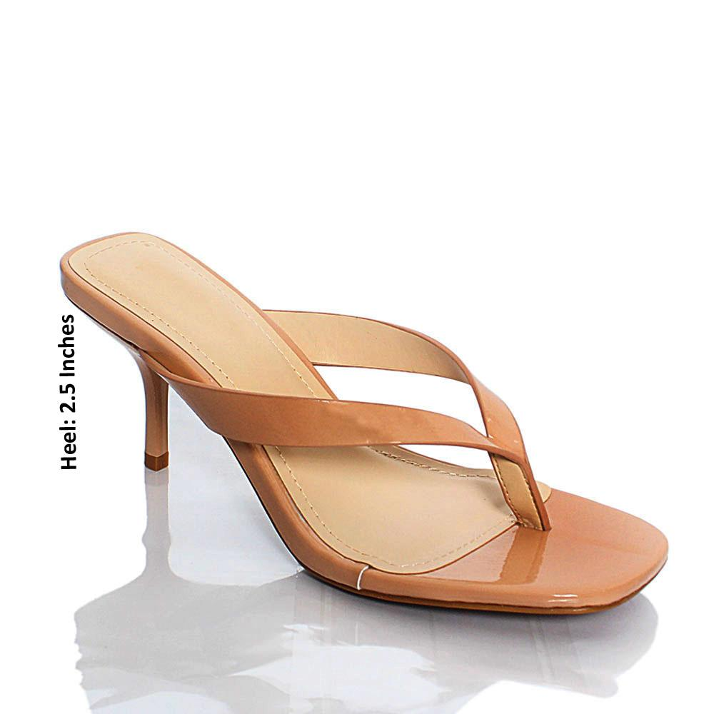 Beige BB Reform Leather Mule