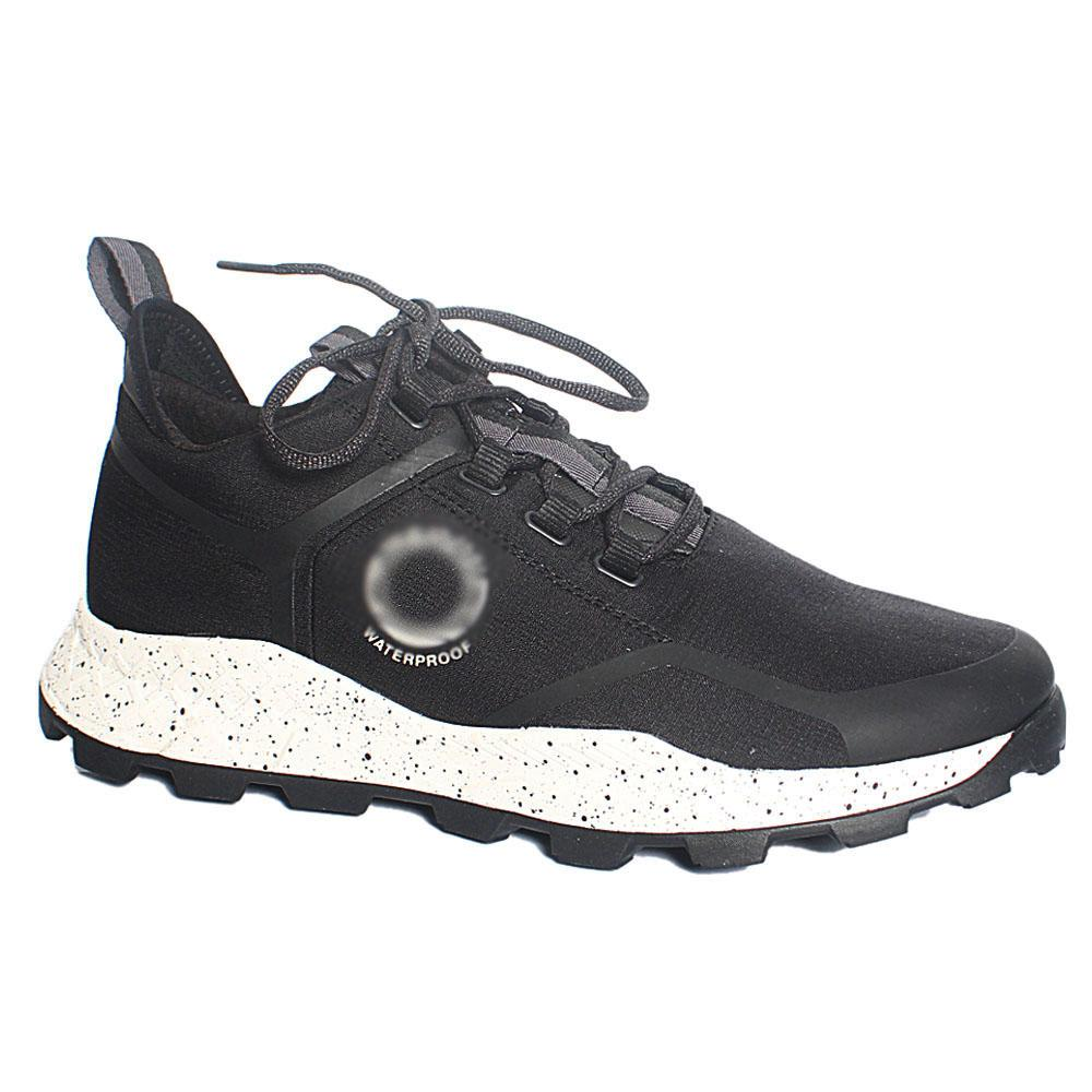 Black Brooklyn Waterproof Fabric Sneakers