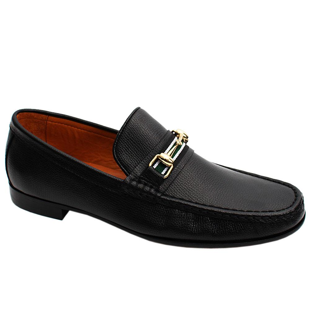 Black Danubio Italian Leather Men Loafers