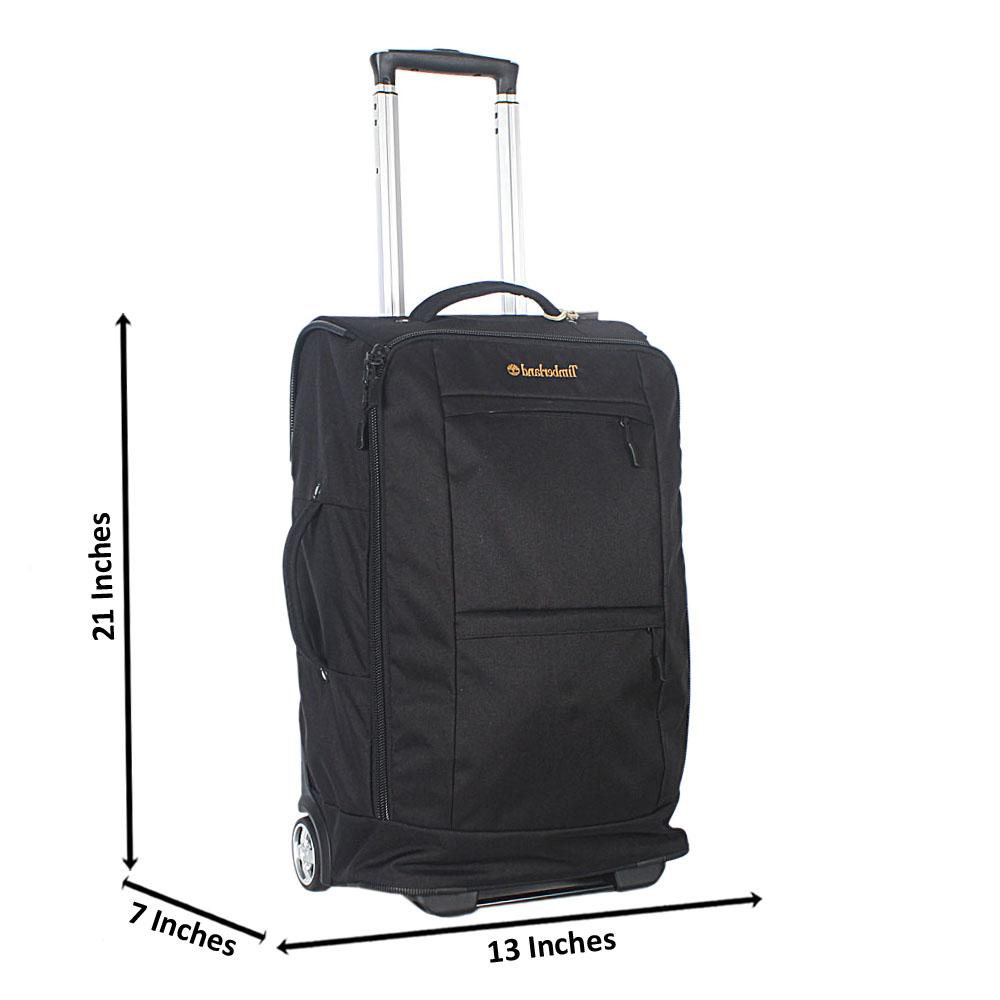 Black 21 Inch Fabric 2 Wheels Carry-On Hand Luggage