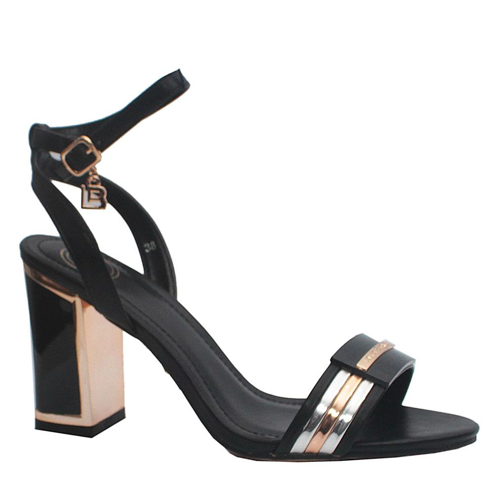 Biagiotti Black Leather Heels