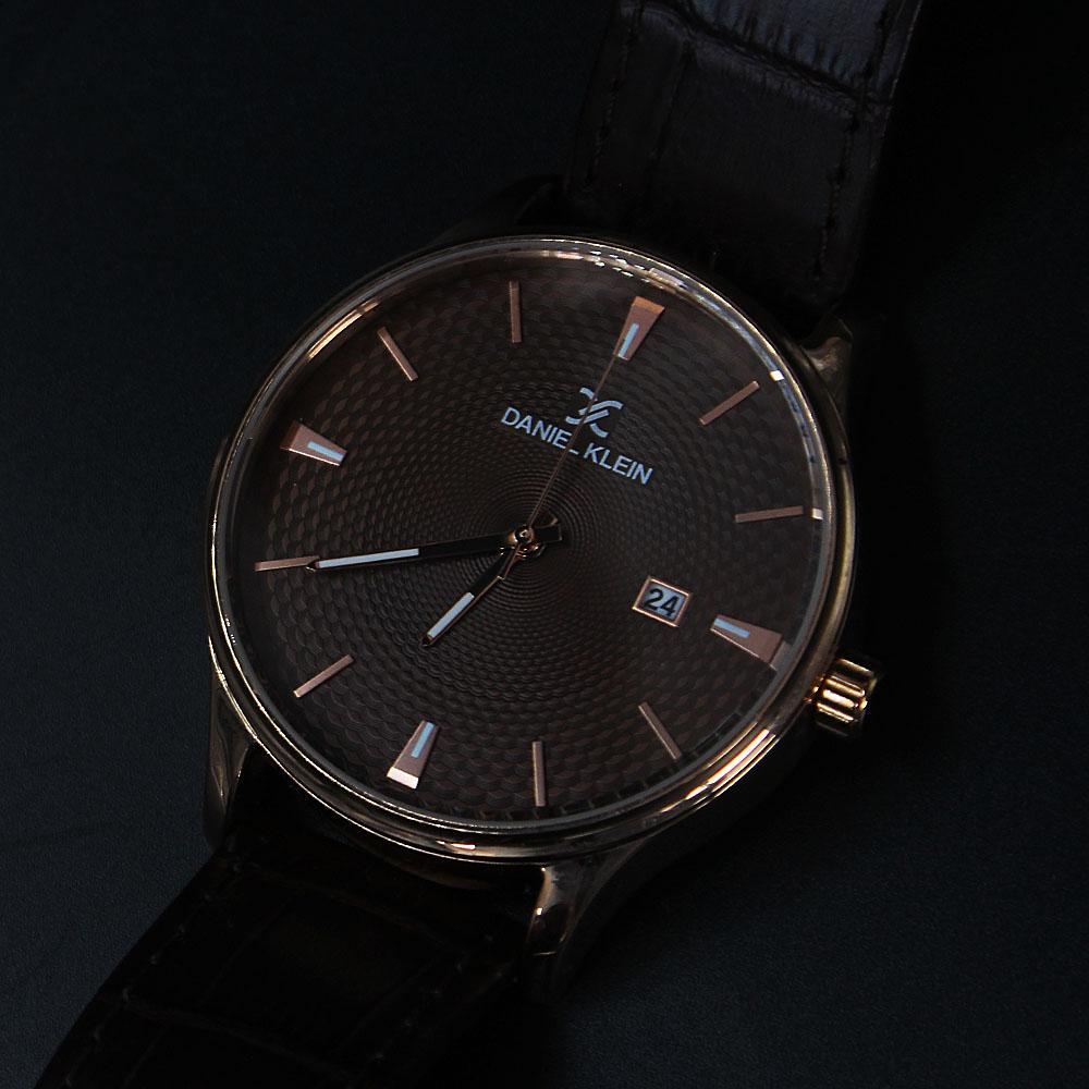 Daniel Klein Javier Coffee Croc Leather Classic Series Watch