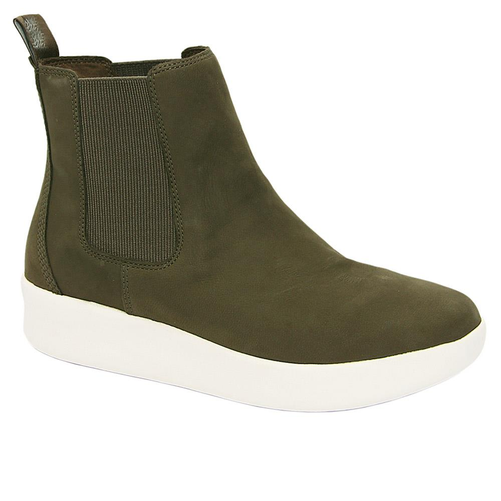 Army Green Jojo Chelsea Leather Boots