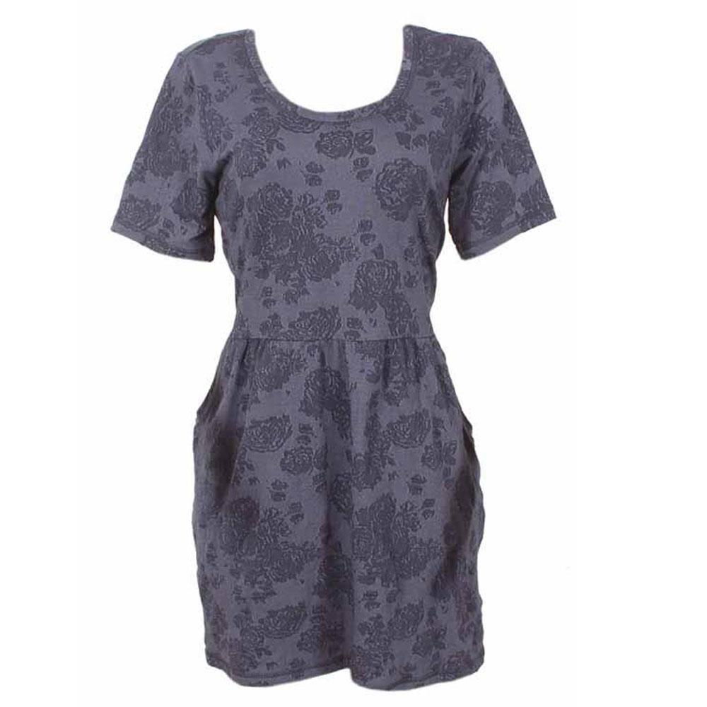 Deep Blue S-Sleeve Dress-Uk 14