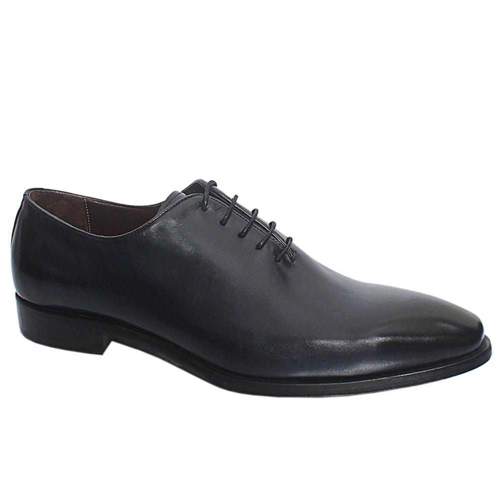 Navy Murillo Italian Leather Oxford Shoe