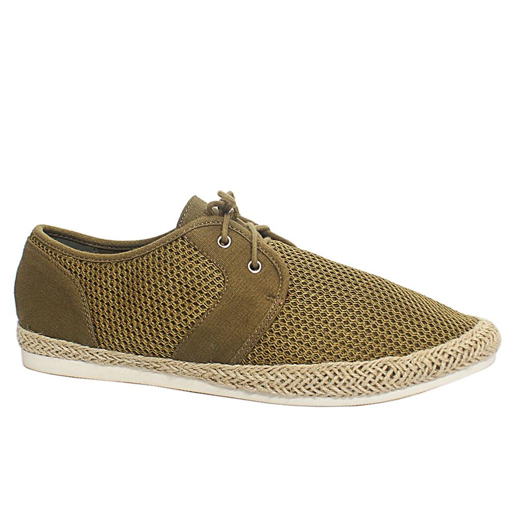 Loughton Khaki Fabric Men Sneakers