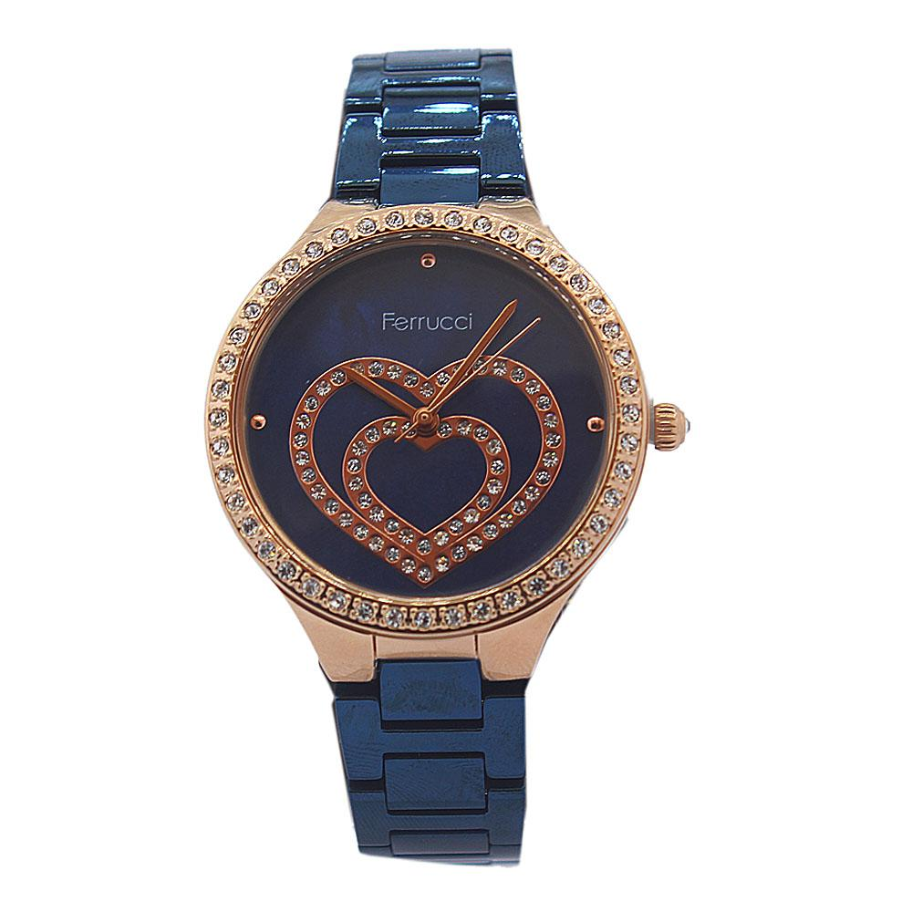 Love Studded Blue Vintage Ladies Watch