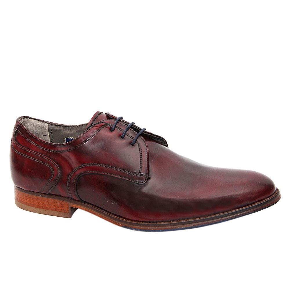 Tan Brown Leather Men Derby Shoes