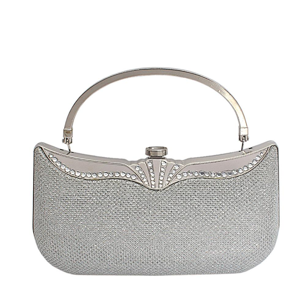 Silver-Glitz-Hard-Clutch-Purse-Wt-Handle