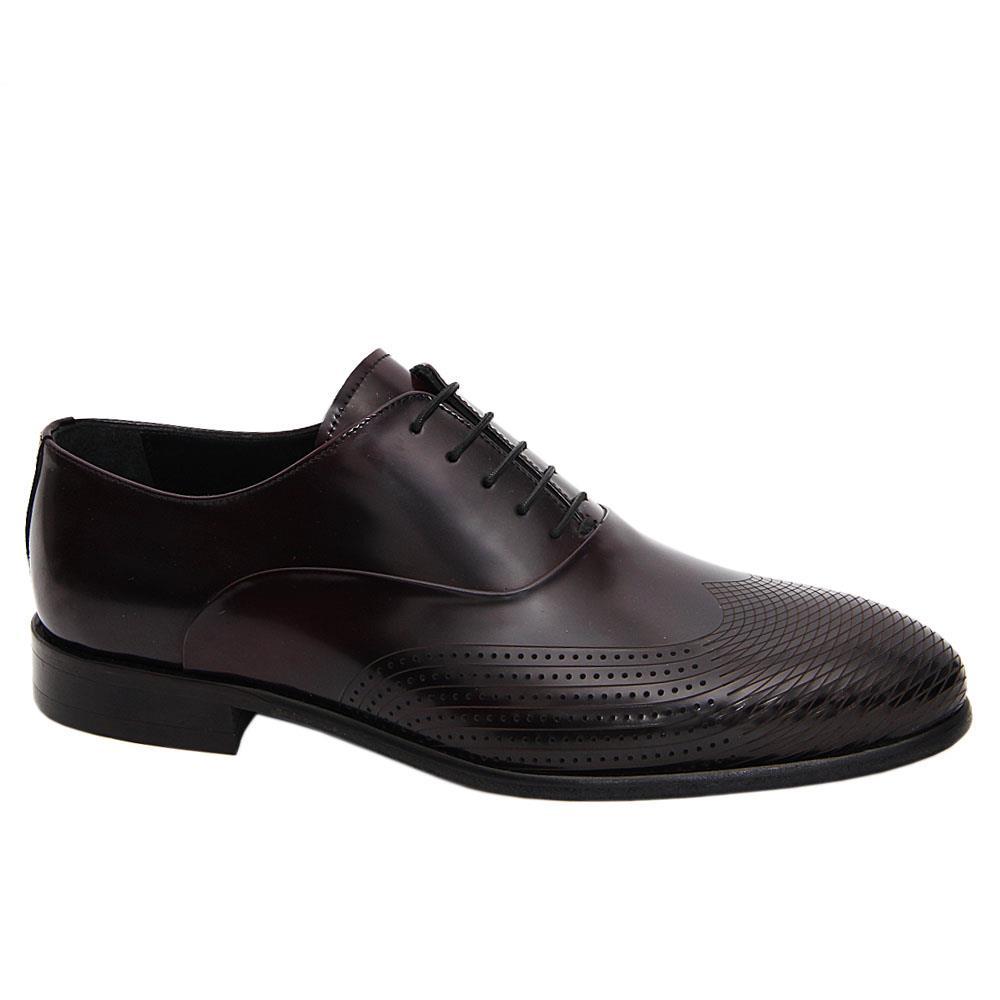 Dark Burgundy Tomasso Italian Leather Oxford Shoe