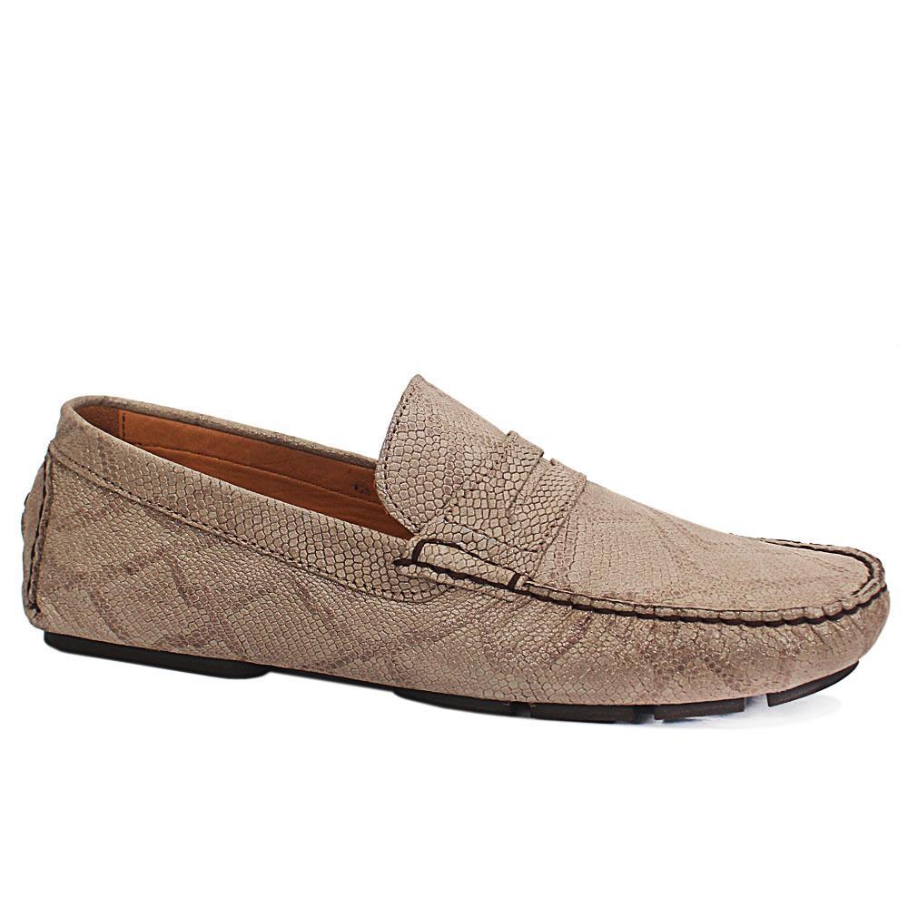 Khaki Buccio Snake Skin Italian Leather Diver Shoe