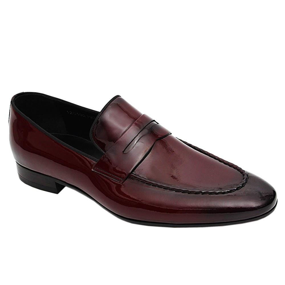 Wine Ricardo Patent Italian Leather Loafers