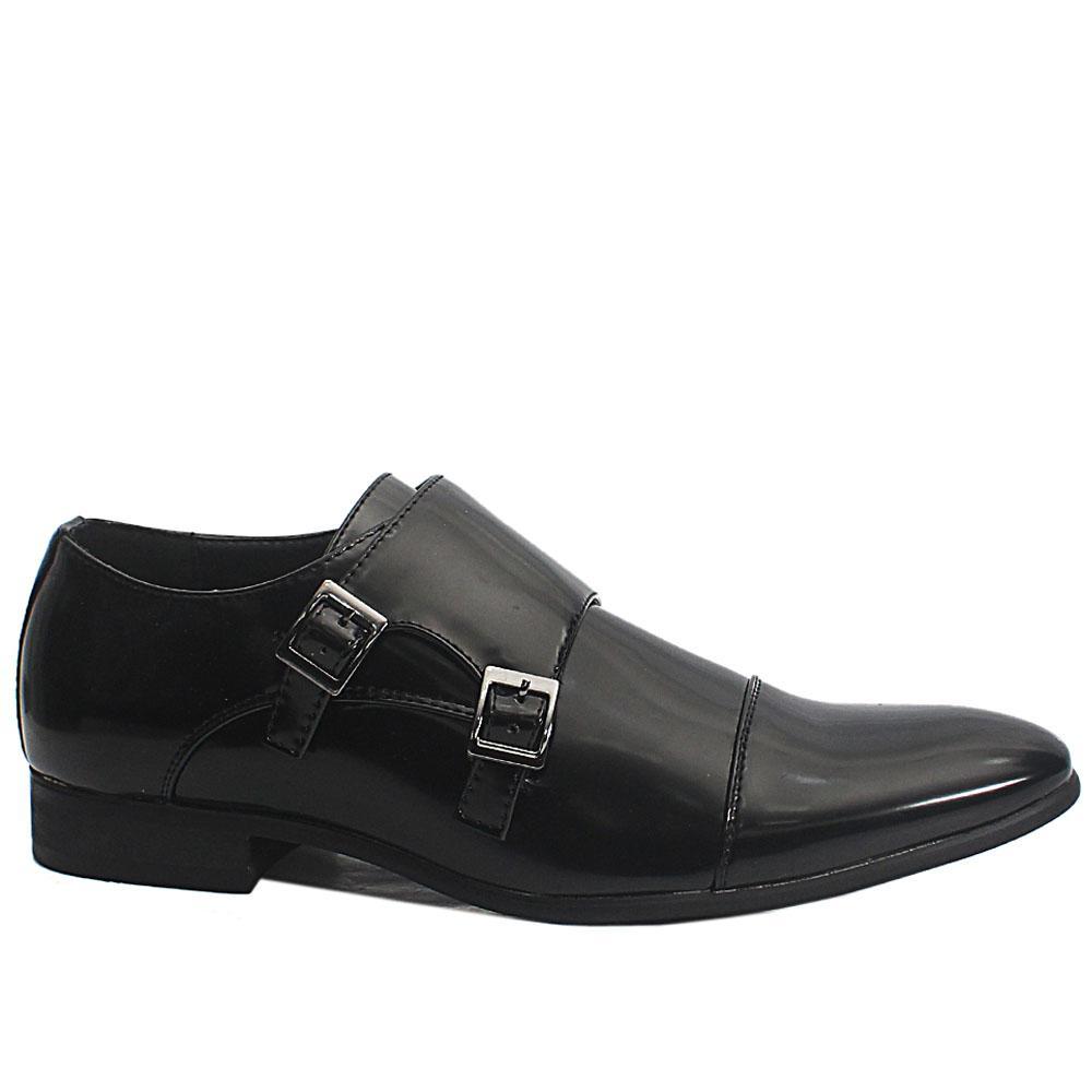 Black James Patent Leather Men Oxford