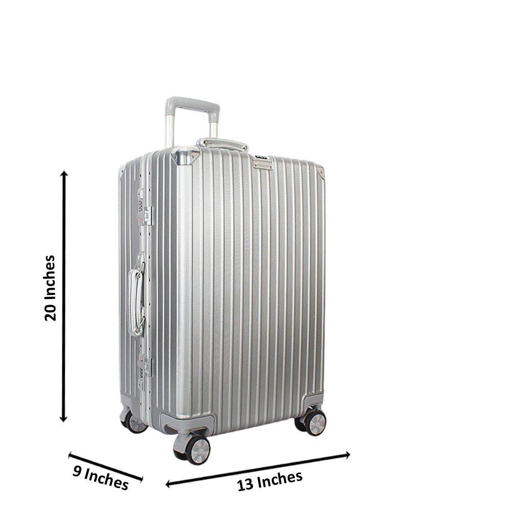 Silver 20 Inch Hardshell Small Hand Luggage TSA Lock
