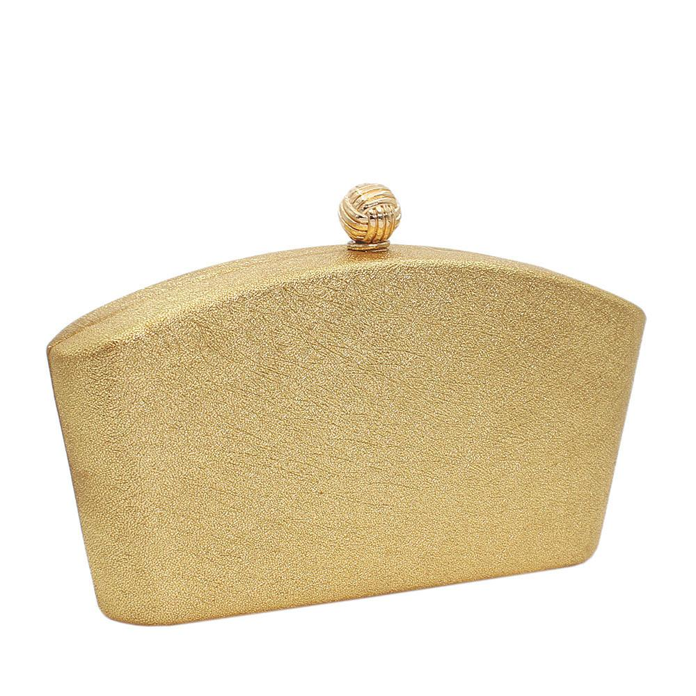 Gold Barbie Leather Clutch Purse