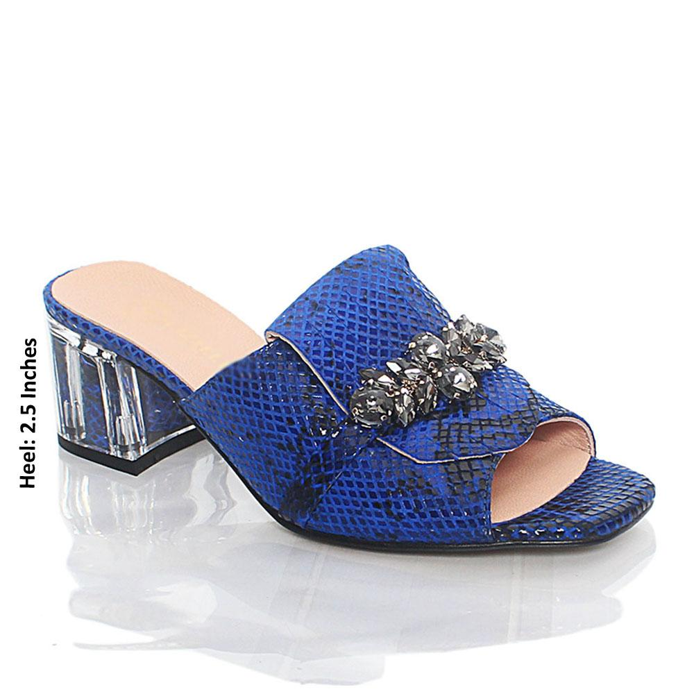 Blue-Nelle-Italian-Leather-Mule