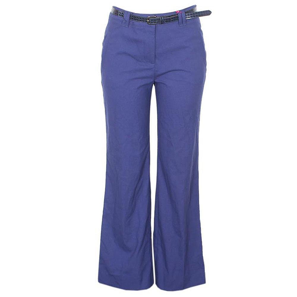 Purple Cotton Ladies Trouser wt Belt-W33, L41