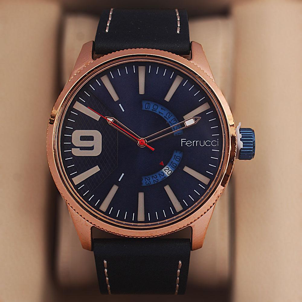 Ferruci Saligari Black Leather Watch