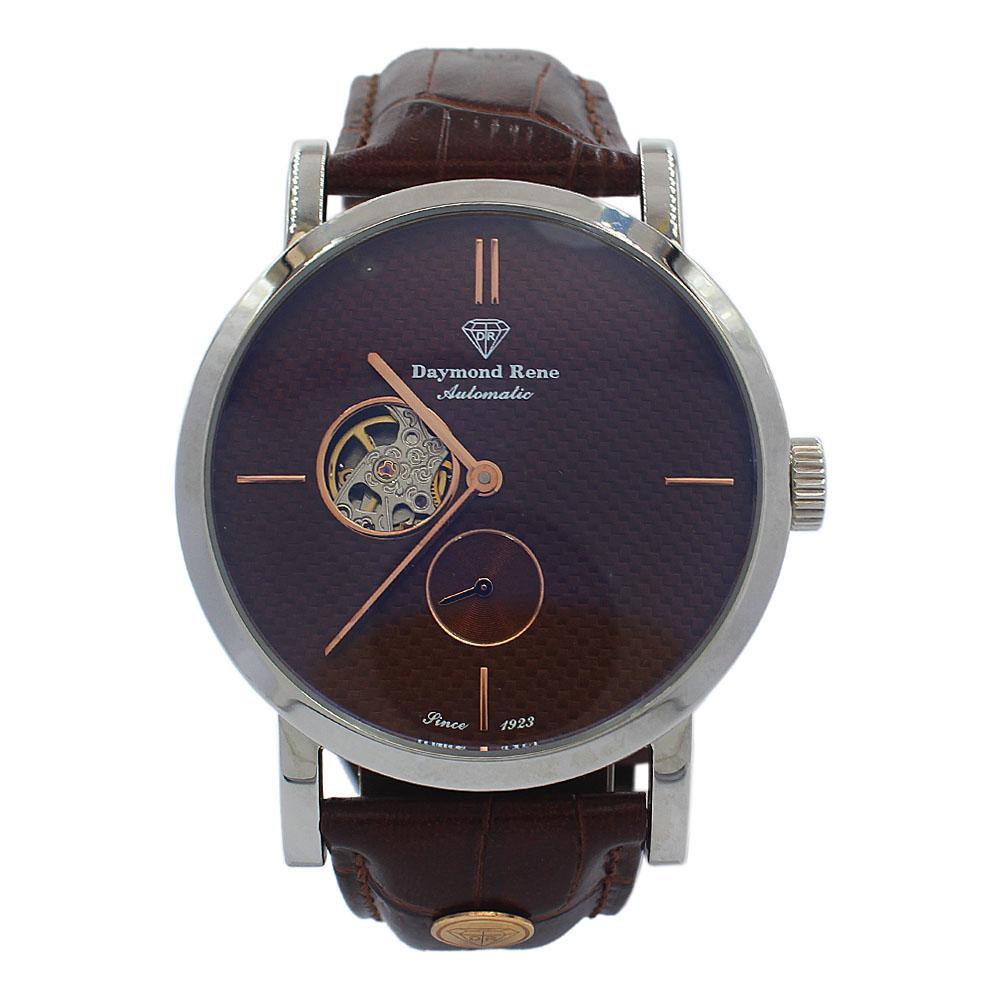 Silver Brown Leather Classic Automatic Watch