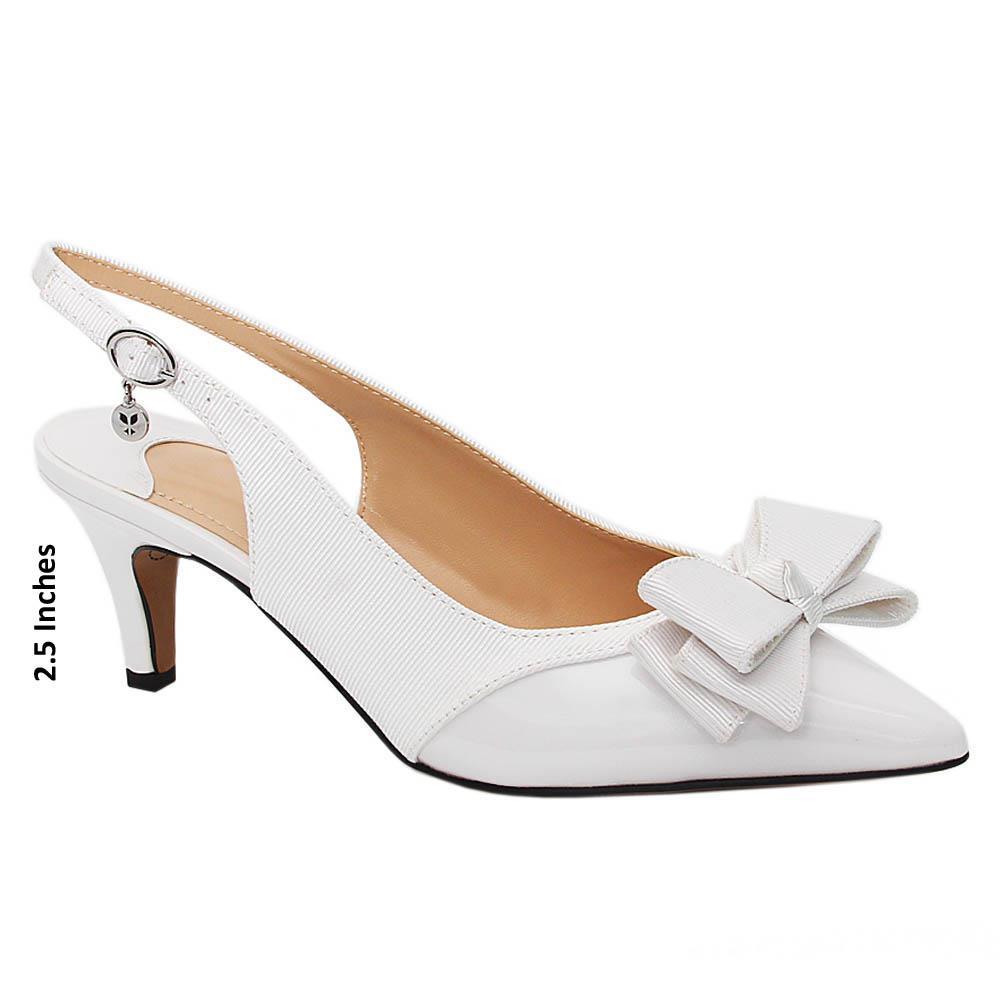 White-Jeda-Fabric-Leather-Mid-Heel-Slingback-Pumps