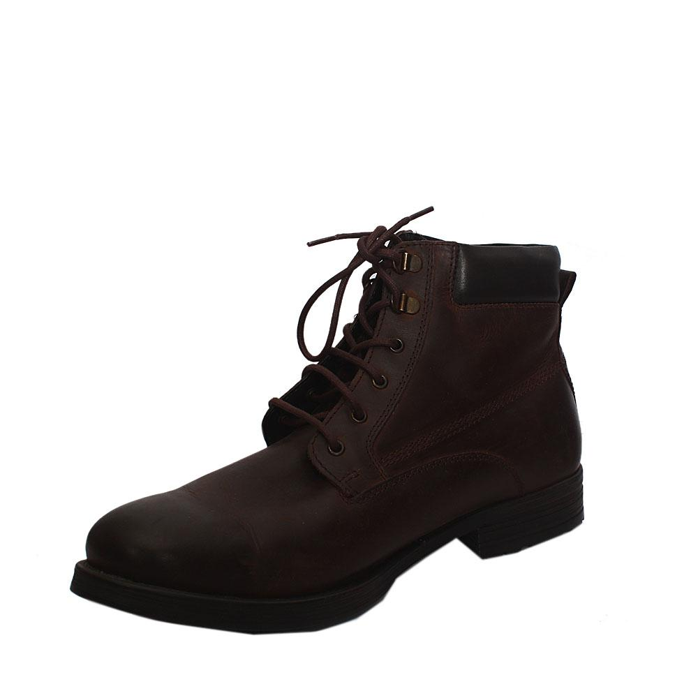 M & S Dauset Chukka Coffee Brown Suede Leather Men Ankle Boot Sz 46