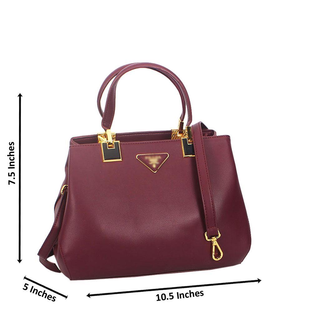 Ava Purple Smooth Montana Leather Tote Handbag