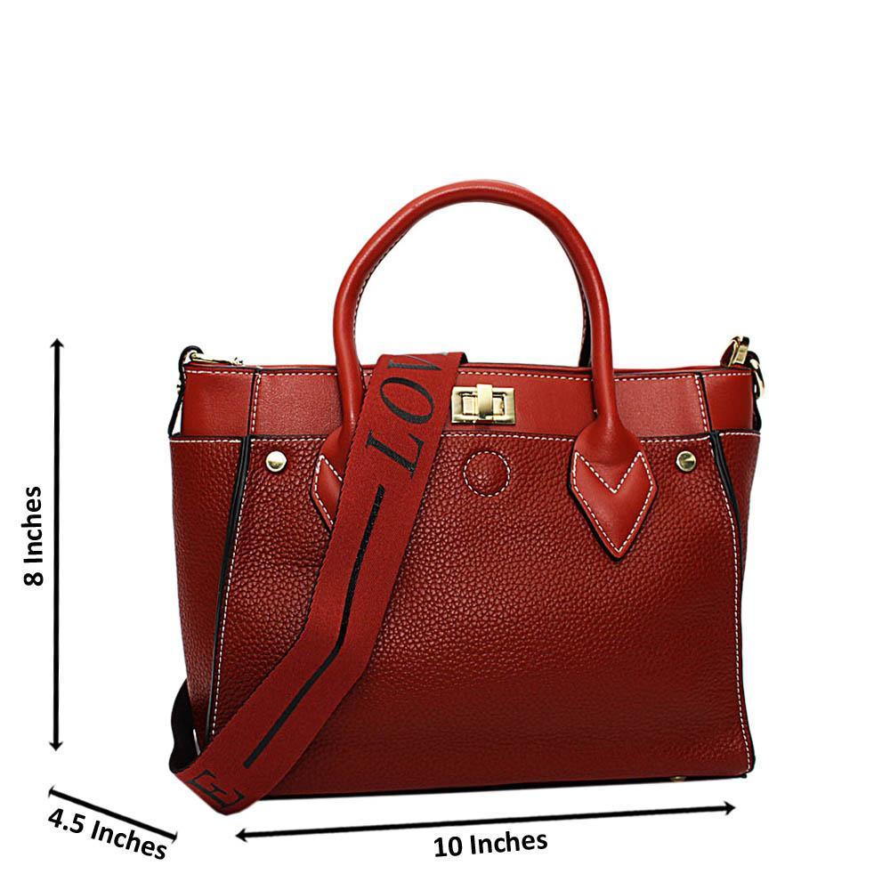 Brown Jayla Leather Small Tote Handbag
