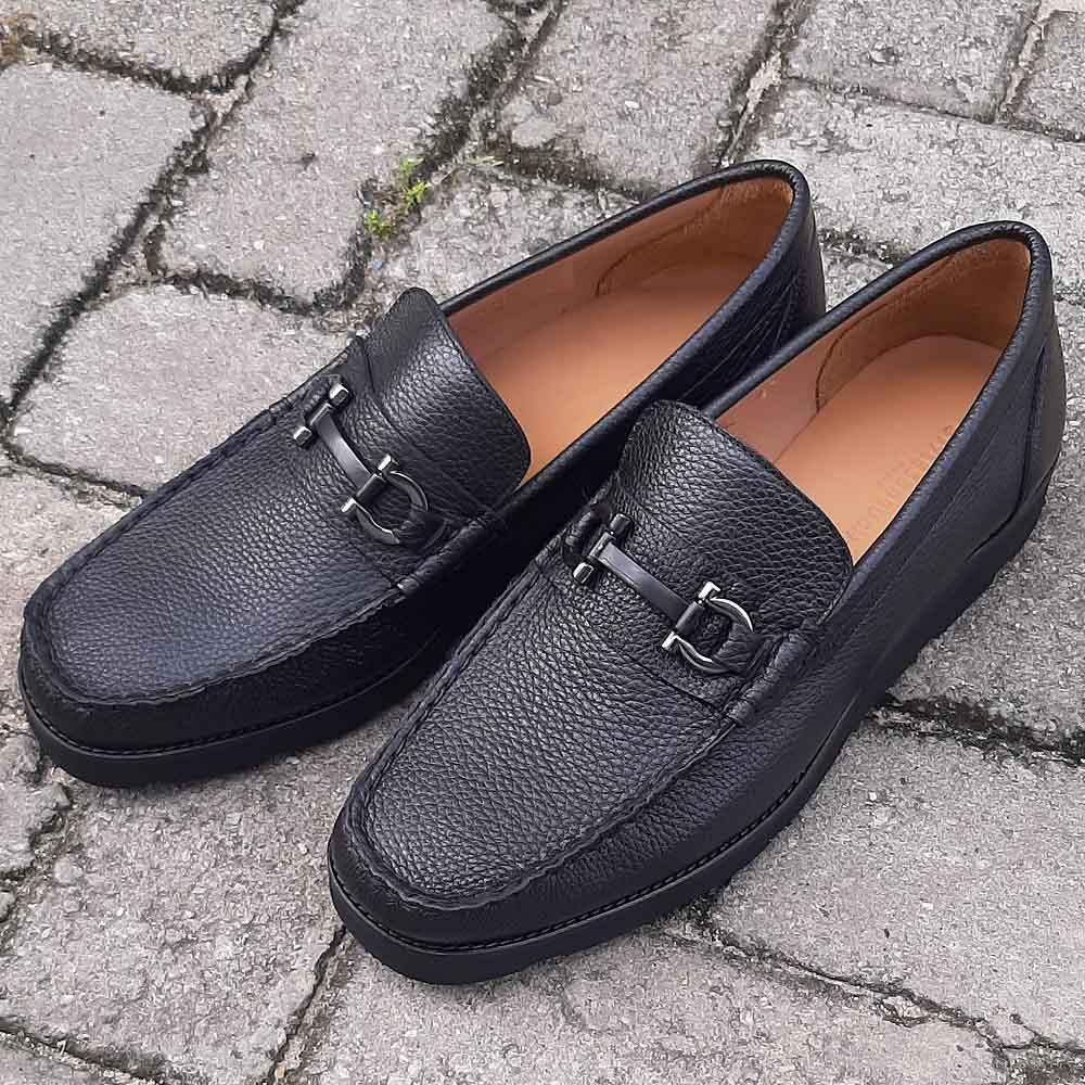 Black Donato Italian Loafers