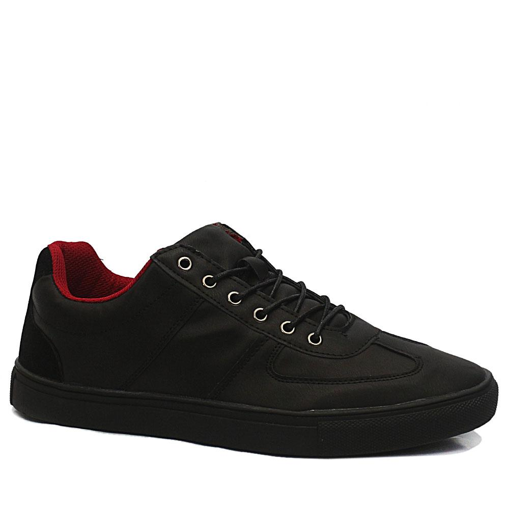 Black Billy Leather Sneakers