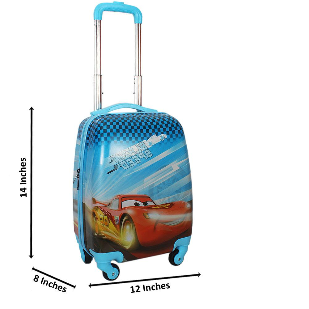 Blue CarGraphic14 Inch ABShell KiddiesCarry On Luggage