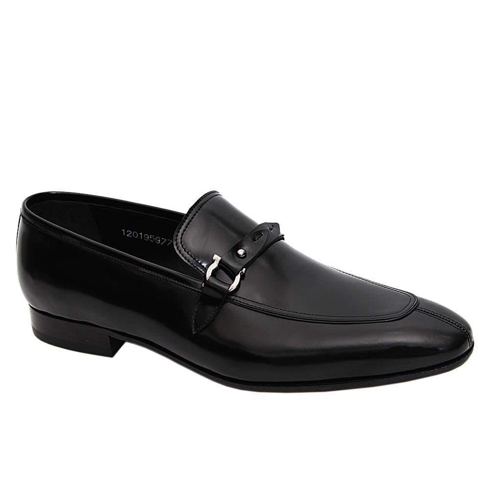 Black Sanchez Italian Leather Loafers
