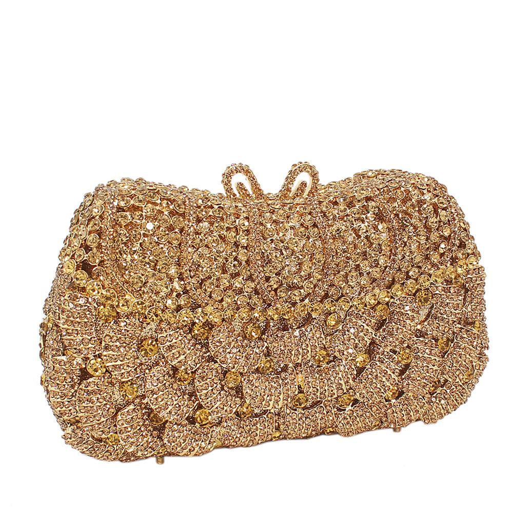 Gold-Diamante-Crystals-Clutch-Purse