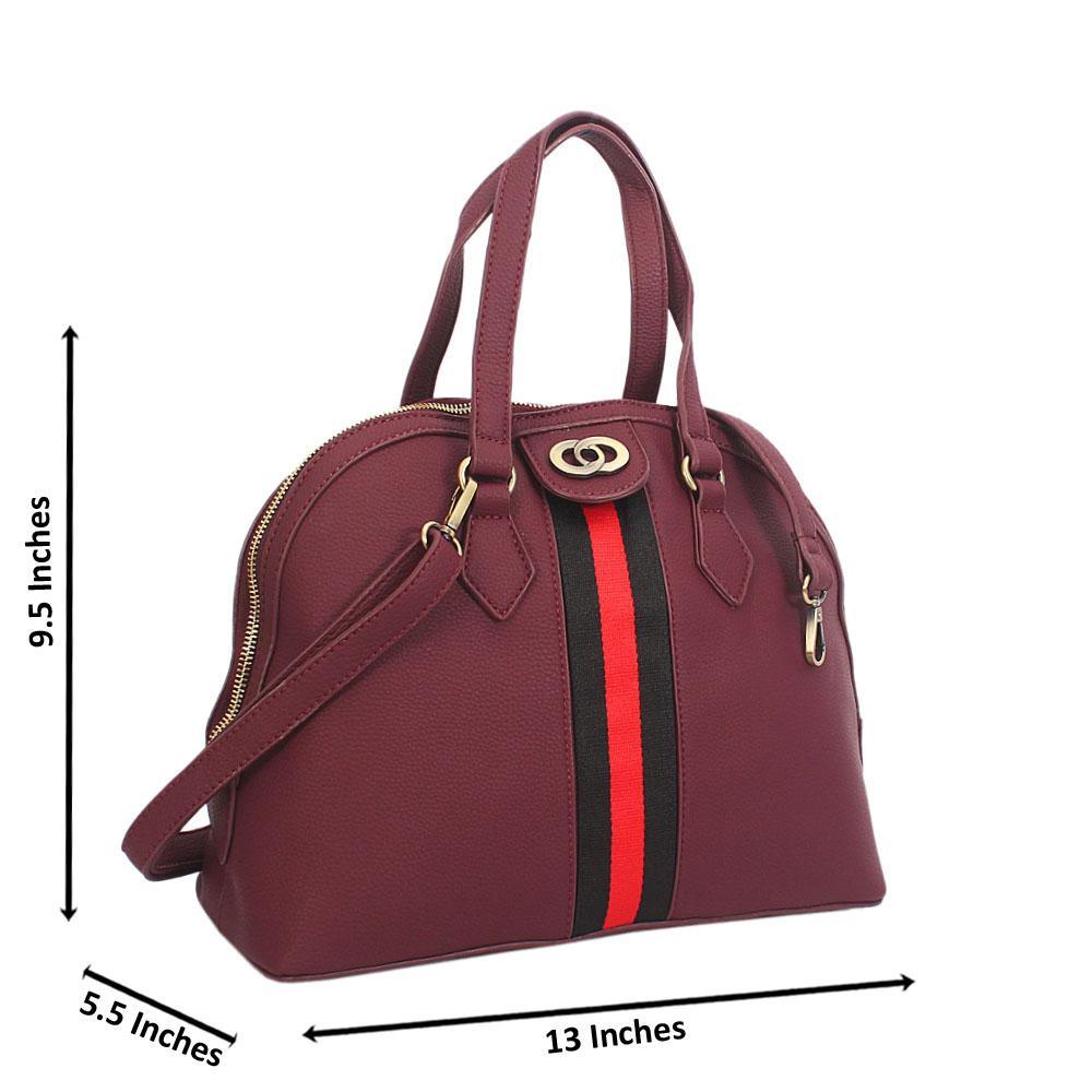 Purple Diane Leather Tote Handbag