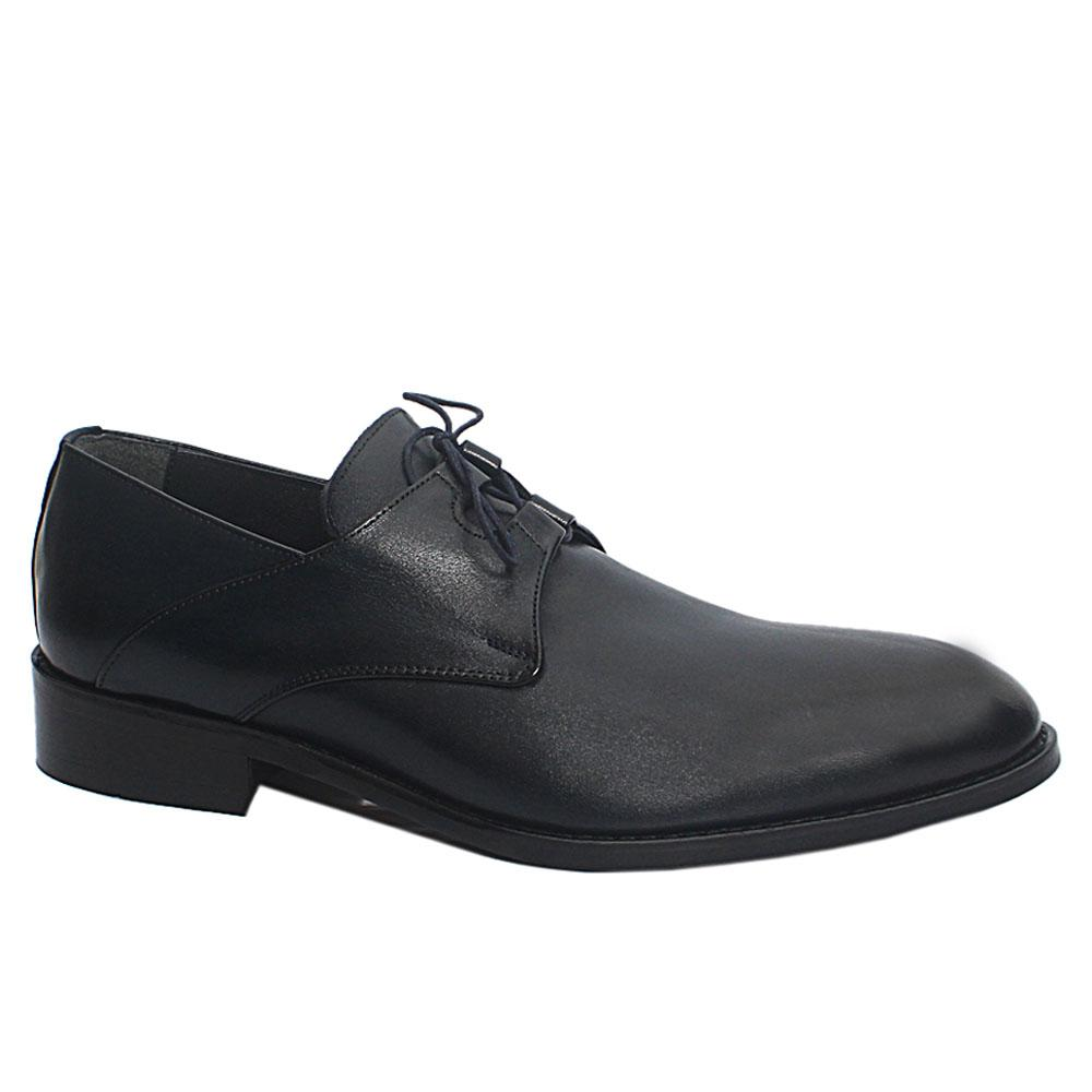 Dark Navy Evan Leather Men Oxford