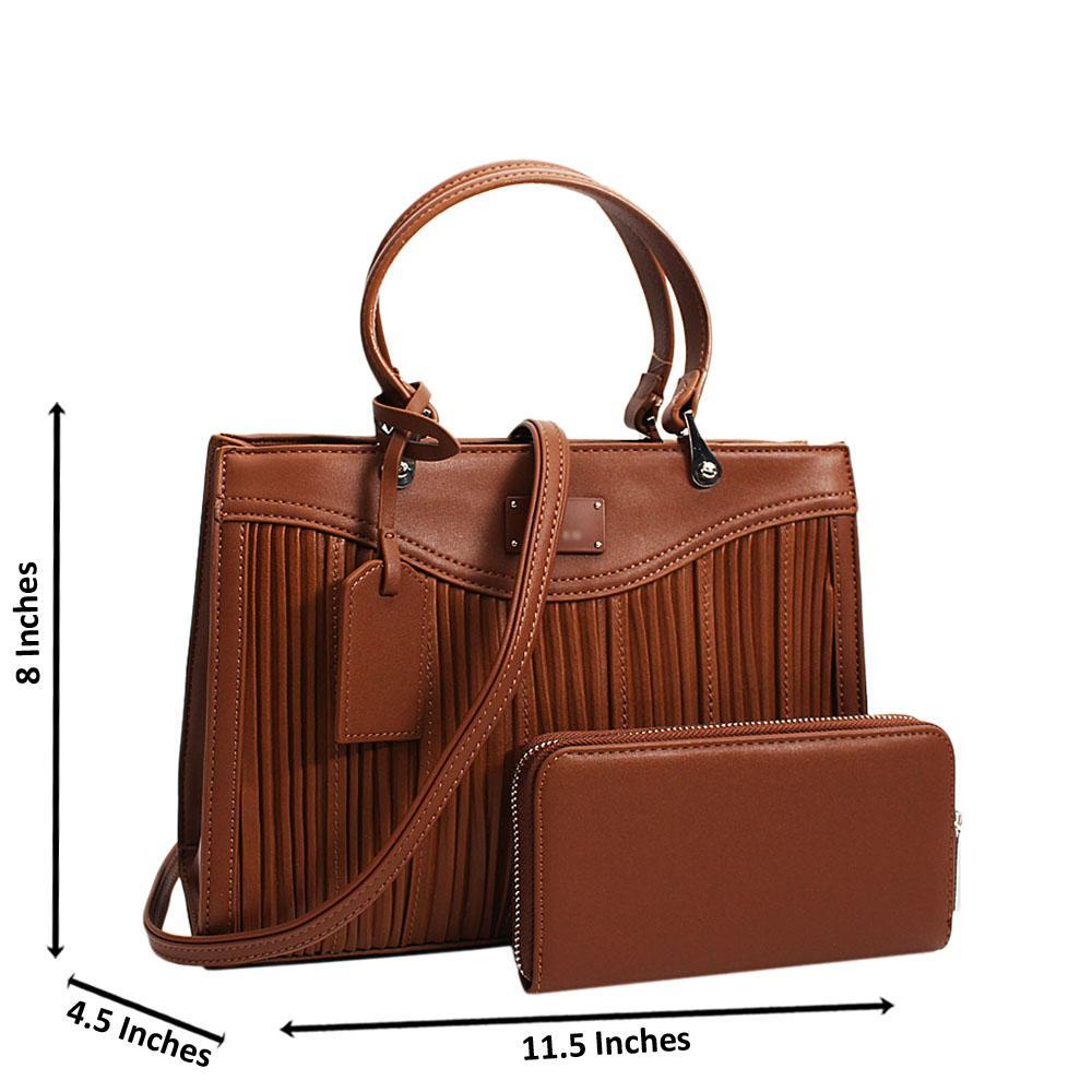 Brown Teodora Leather Small Tote Handbag