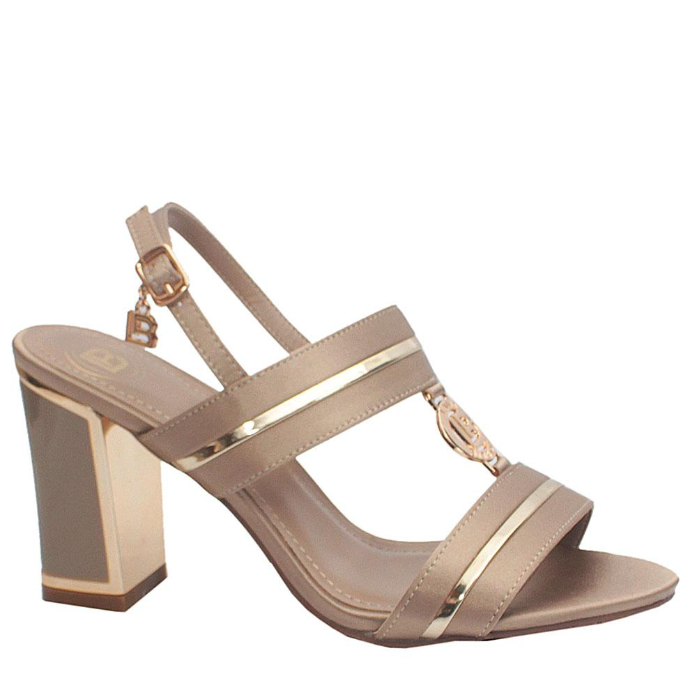 Biagiotti-Beige-Satin-Leather-Heels