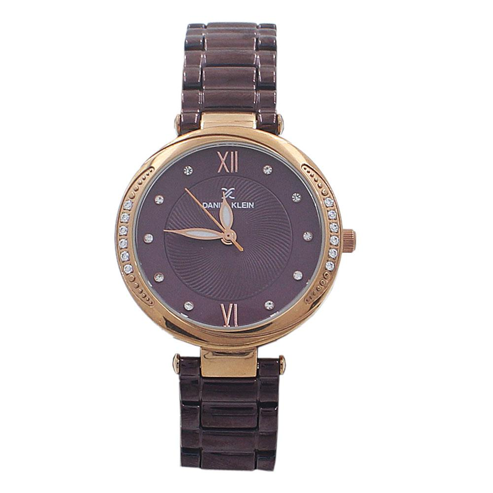 Classic Purple Studded Stainless Steel Ladies Watch