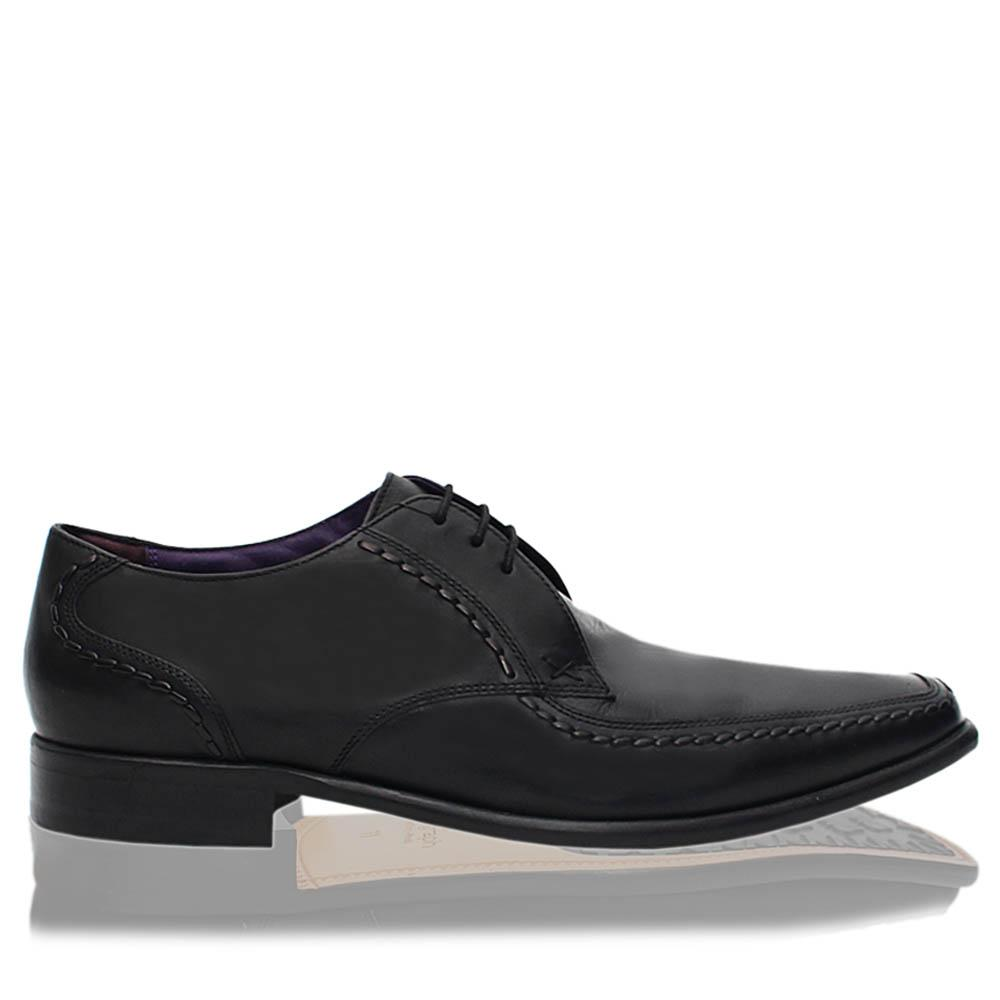 Black Castle Leather Men Derby Shoes