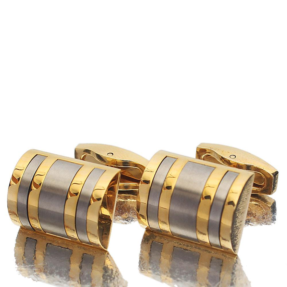 Platinum Silver Gold Stainless Steel Cufflinks