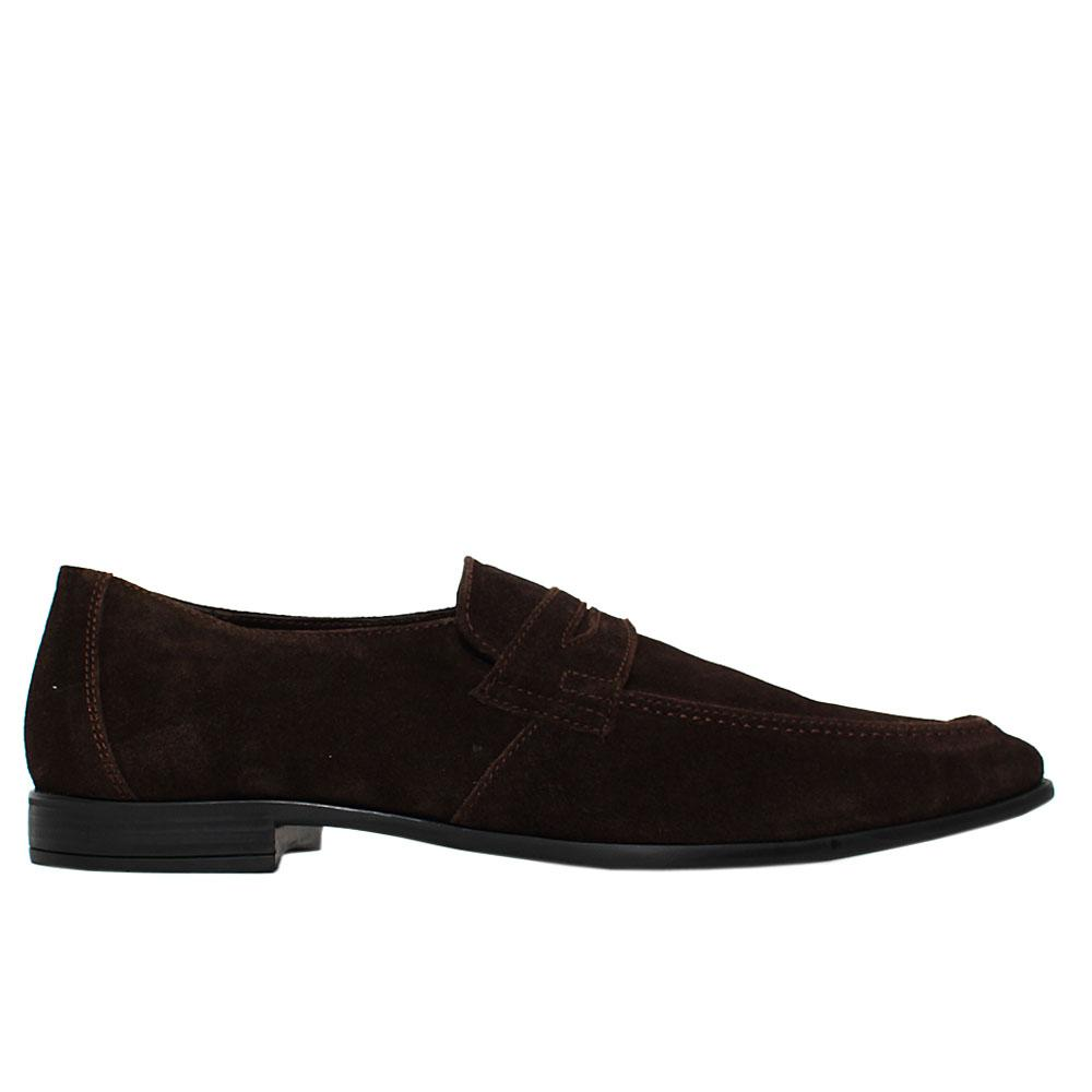 Coffee Kirkford Suede Leather Loafers