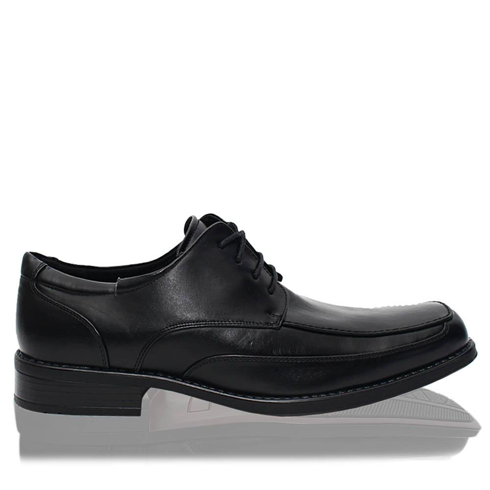 Black Leather Men Derby Shoes Wt Slight Default