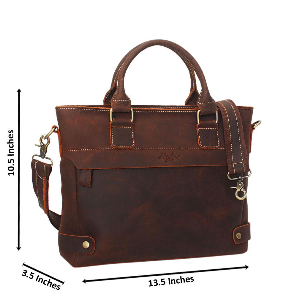 Brown-Distressed-Leather-Briefcase