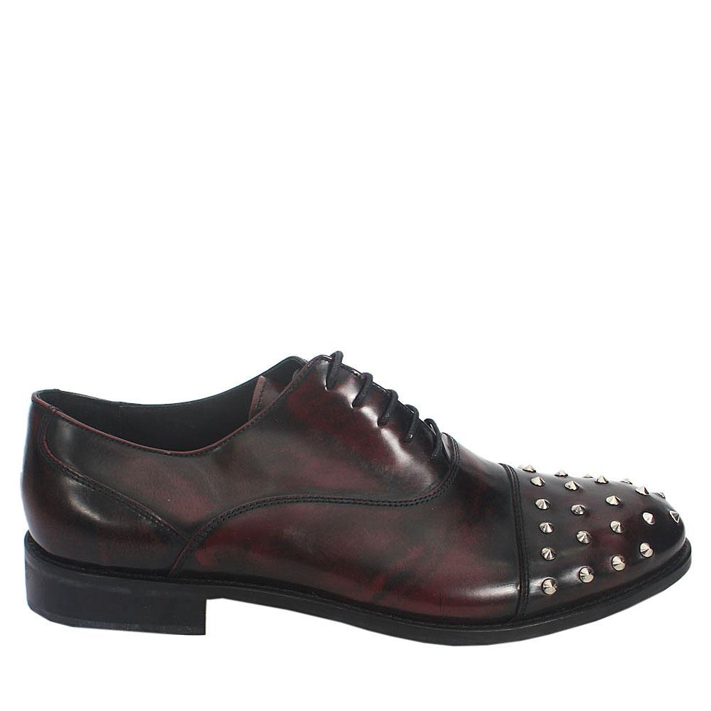 Kurt Geiger Black Brown Studded  Leather Men Shoe Sz 46
