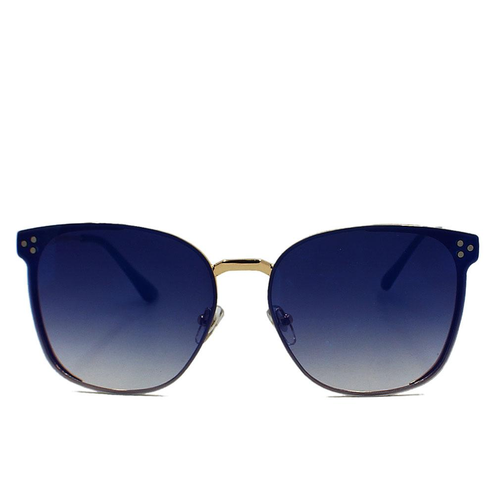 Gold Blue Polarized Rimless WoSunglasses