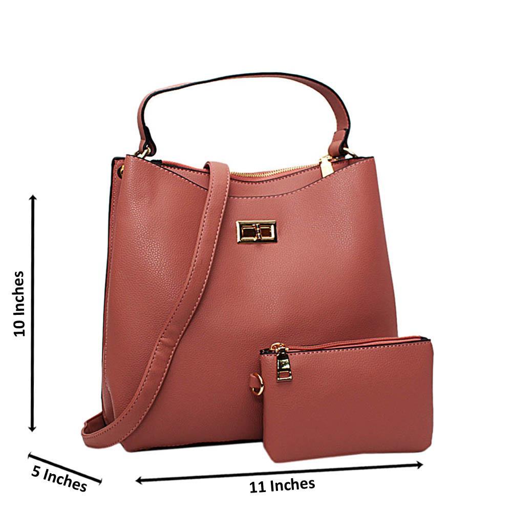 Beige Hazel Leather Medium Top Handle Handbag