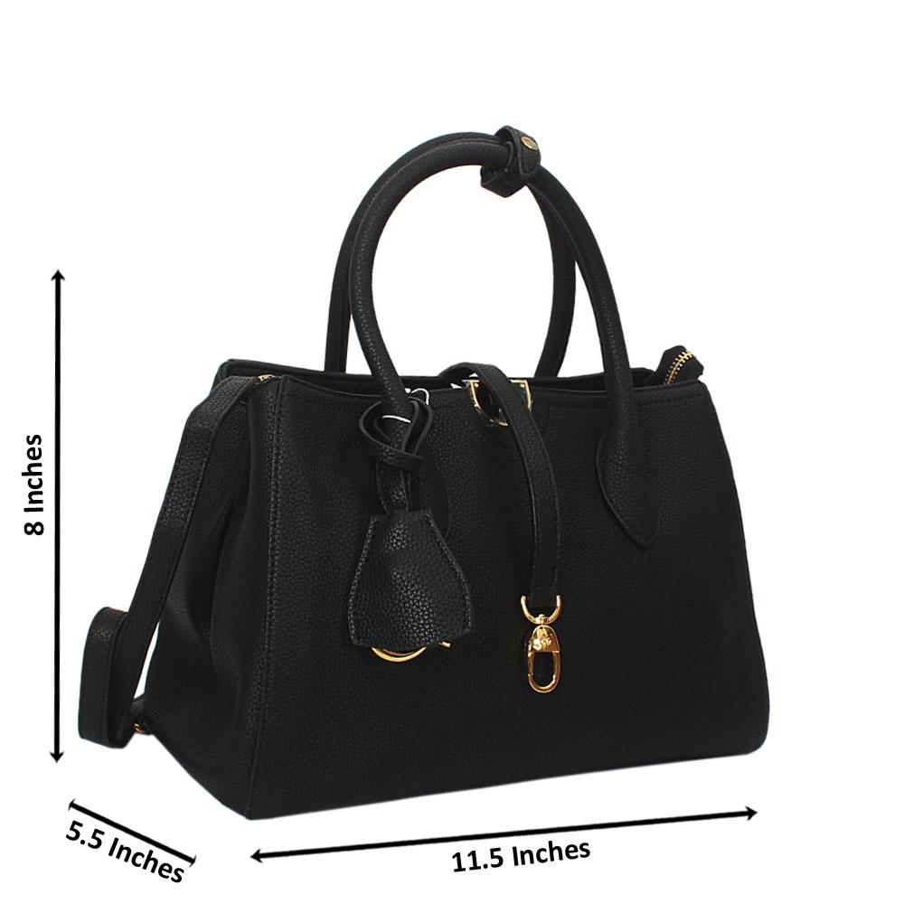 Octavia Black Montana Leather Tote Handbag