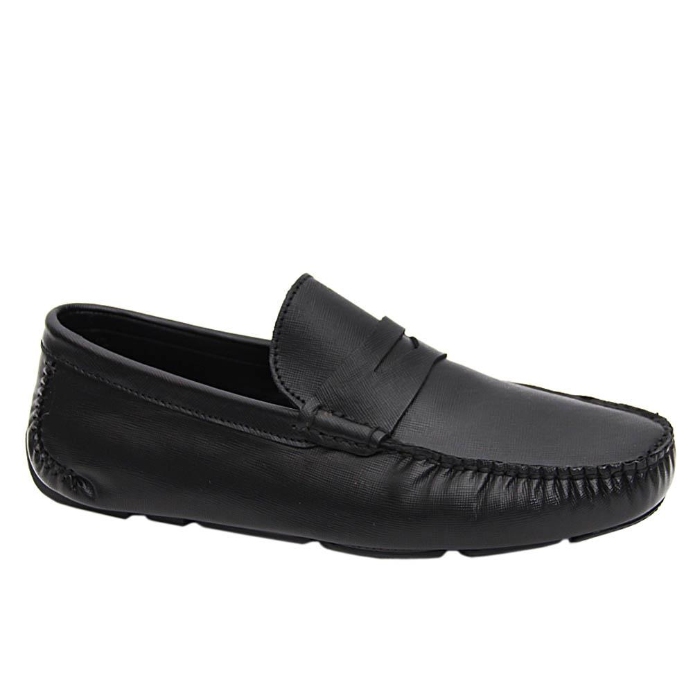 Black Hector Italian Leather Drivers Shoe