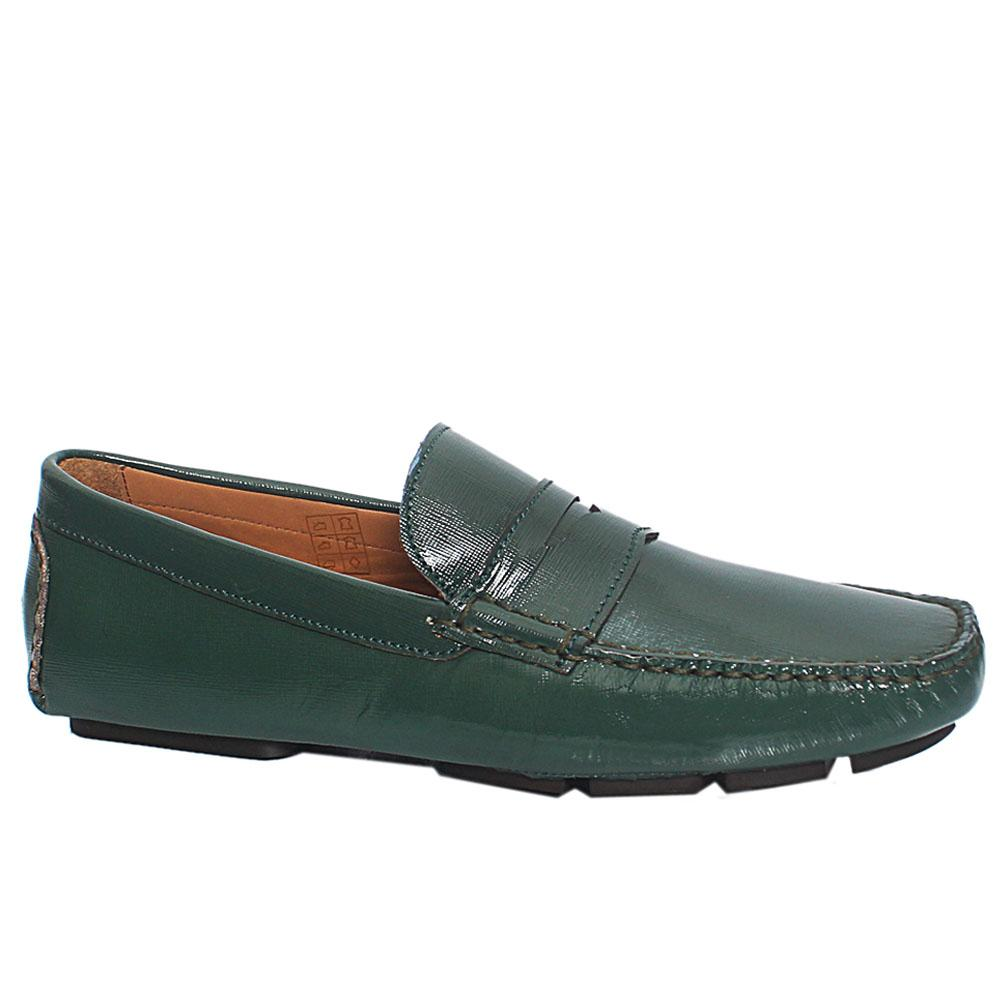 Green Giovanni Italian Leather Drivers Shoes