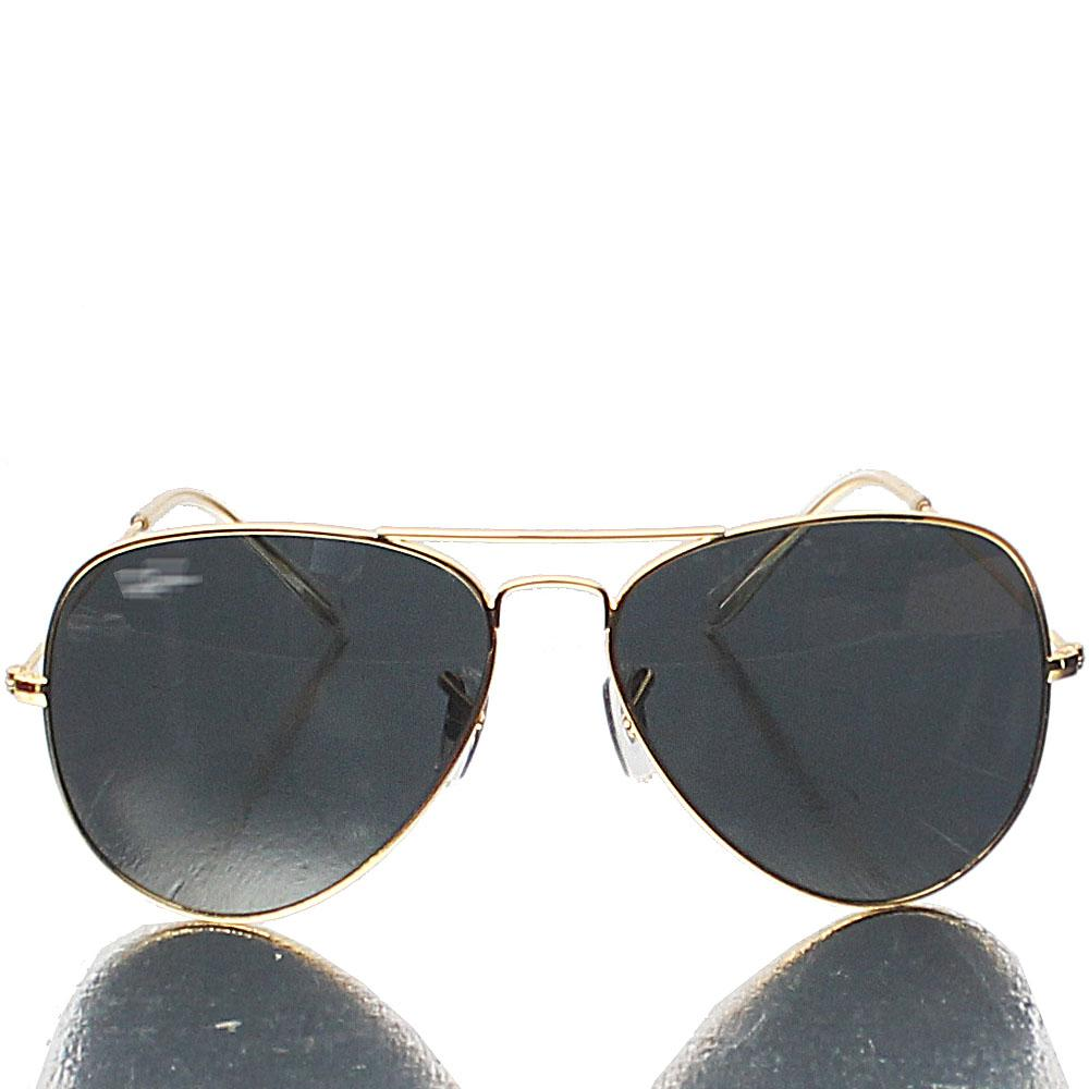 Gold Aviator Pro Dark Lens Sunglasses